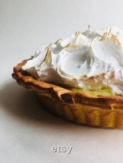 Faux citron Meringue Pie Prop Display Food Dessert Pudding Artificial Replica Pie