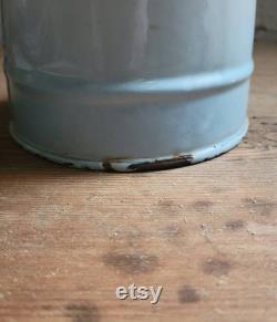 Fran ais vintage Seau européen au lait émaillé avec design peint à la main