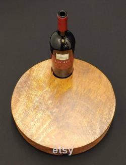 Fromage de vin Lazy Susan, Lazy Susan Turntable, Cadeau de mariage, Conseil de fromage, pièce maîtresse