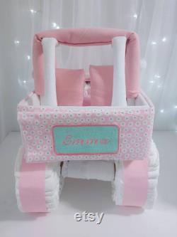Gâteau de couche de jeep pour la fille