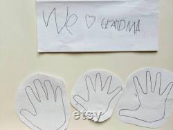 Grand cadeau de fête des mères pour maman, cadeau pour grand-mère, cadeau pour Nana, cadeau personnalisé de grand-parent, cadeau de grand-parent des enfants, cadeau d empreinte de main