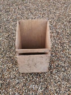 Grande boule de malt de grain en bois de Fran ais rustique antique