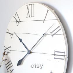 Grande horloge murale Décor de salon de ferme Décor de cheminée au-dessus Décor de maison moderne idée cadeau unique HORLOGE de ferme de 25 30 EMMA