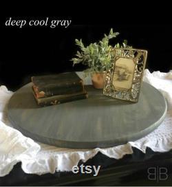 Grande paresseux susan platine 24 pouces paresseux susan bois paresseux susan bleu cuisine décor Salle à manger table pièce maîtresse cadeau de mariage idée cadeau unique cadeau