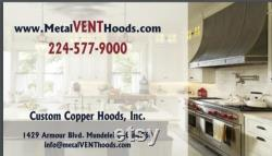 Hottes en zinc, hottes de cuisine personnalisées, hottes de gamme, hotte en métal en zinc