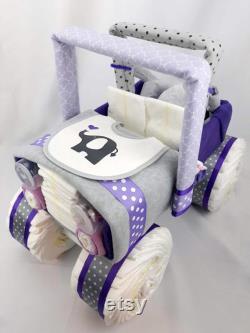 Jeep Diaper Cake Cadeau de bébé Gâteau de couche Pièce maîtresse de douche de bébé pièce maîtresse de cadeau décor de douche de bébé