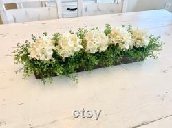Kitchen Island Pièce maîtresse, salle à manger pièce maîtresse de table, Décor manteau, arrangement floral Hydrangea, pièce maîtresse de table, décor de console de télévision