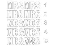 LETTRES MR-MRS Ensemble de 6 lettres géantes en polystyrène Lettres de base table Lettres de mariage géantes Lettres de mariage M. et Mme lettres 30 pouces de hauteur 8 pouces de profondeur