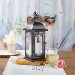 Lanternes ornées noires Ensemble de 12 Antique vintage Thème Réception de mariage Réception Décoration de table Ferme rustique MW36945