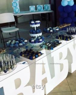 Lettre géante en polystyrène BABY lettres Ensemble de 4 lettres de base de table 3D Baby shower lettres Baby party centerpieces 30 pouces de hauteur 16 pouces de profondeur