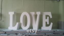 Livraison gratuite LOVE lettres lettre de mariage Idée partie d amour 30 pouces de haut 8 pouces de profondeur Ensemble de 4 lettres en polystyrène géant lettre de base de table 3D