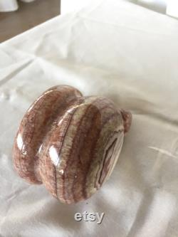 Mortier et pilon de pierre d Onyx, mortier et pilon de produit de cuisine pourpre et brun ondulés, broyeurs de noix, presse à ail d onyx, broyeur d épice