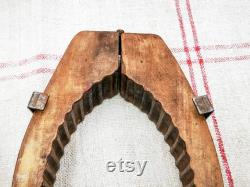 Moule en bois antique de Fran ais de beurre, conception sculptée de houx, moule de beurre, tablette en bois sculpté avec le houx, décor à la maison de Noel, Fran ais modèle de ferme