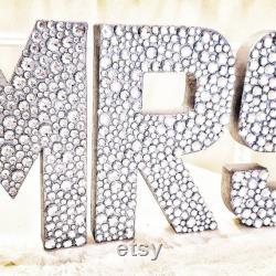 Mr. and Mrs. Bling lettres pour décorations de table de mariage et souvenir