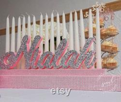 Navire gratuit Sweet 16 Candelabra, Quinceanera Mitzvah Candle Lighting Pièce maîtresse
