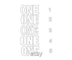 ONE lettres Ensemble de 3 lettres en mousse géante Lettres de base de table 3D Lettres de douche de bébé Une lettres autoportantes 30 pouces de hauteur 8 pouces de profondeur