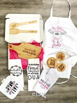 Paquet de cadeau de cuisine, cadeau de mariée musulmane, mariage pakistanais, crémaillère, douche de mariée, cadeau islamique d Aïd, mariage musulman, planche à découper