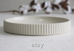 Pièce maîtresse blanche en céramique, bol en céramique, décor de bureau, décor en céramique, cadeau de cuisine unique, cadeau de mariage, table moderne