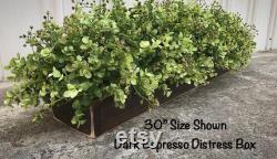 Pièce maîtresse d Eucalyptus, pièce maîtresse, décor de table de ferme, décor de ferme, boîte de planteur, arrangement floral, verdure, eucalyptus, décor à la maison, décor