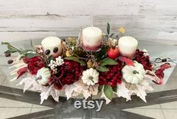 Pièce maîtresse d automne, pièce maîtresse d automne marron, décor de table d automne, pièce maîtresse d automne, arrangement de chrysanthème, arrangement floral d automne, automne