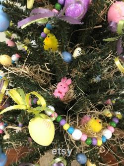 Pièce maîtresse de Pâques, arbre d oeuf de Pâques, décorations de Pâques, décor de table de Pâques, arrangement de Pâques, décor d oeuf de Pâques, arbre avec oeufs de Pâques