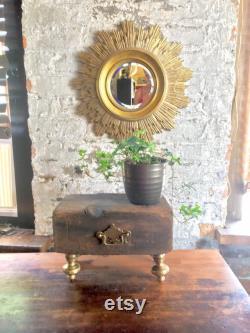 Pièce maîtresse de table Bois inachevé Matériel antique, Atomchicago