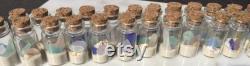 Plage dans une bouteille en vrac 20 Verre rempli Vial de La Floride Sand Sea Shells SeaGlass, Beach Trinket pour les mariages de plage, Beach Party Favors Vrac