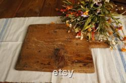 Planche à découper en bois-planche à découper rectangulaire-Fran ais pain planche-décor de cuisine Vintage-rustique service Board-cadeau de pendaison de crémaillère
