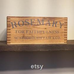 Planteurs d herbes d intérieur Boîtes de tri Bois récupéré Cadeau de pendaison de crémaillère Finger Jointed Box Unique
