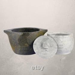 Pot de cuisson de pierre à savon assaisonnement et combo de pot de caillé de pierre à savon, stockage traditionnel de pierre à savon, service, et ustensiles de cuisine