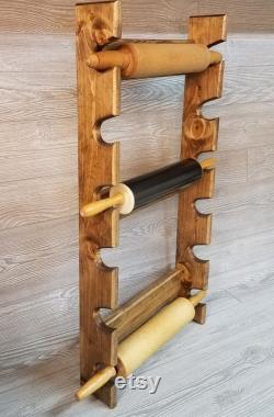 Rack rouleau à pâtisserie avec six fentes Rack rouleau à pâtisserie multiple Support de rouleau à pâtisserie Stockage de rouleau à pâtisserie Rack rouleau à pâtisserie pour 6