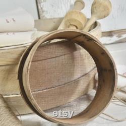 Rare Antique Fran ais Bébé Grain Tamis Primitive Fran ais 19cm Diamètre