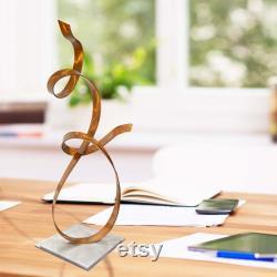 Sculpture en métal, pièce maîtresse moderne, décor de table à café, cadeau unique pour le décor de bureau accent d'allure en cuivre par Jon Allen