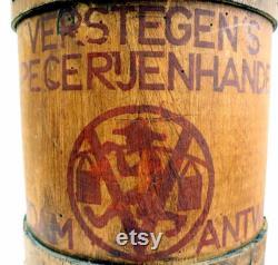 Seau à mesurer aux épices antique rare Verstegen .
