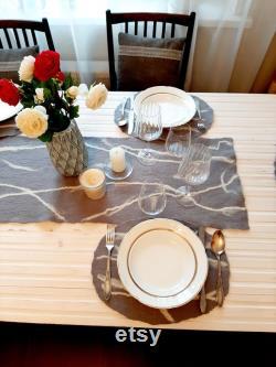 Tapis de table et napperons ovales (ensemble de 7 articles)