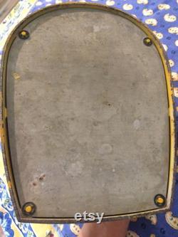 Vintage échelle jaune fabriqué en Angleterre, l échelle de la ferme, accent de cuisine jaune