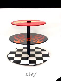 Voitures Cupcake Stand Nascar Cupcake stand Race voiture gâteau stand main peint