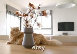 vases, vase en céramique, pièces modernes minimalistes du centre, vase à fleurs scandinave, contemporain, table à manger minimale, céramique, vases de poterie
